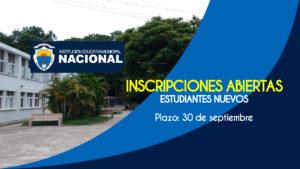 inscripciones Nacional 2021-2