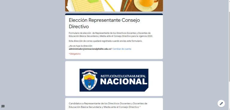 Elección representante